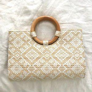 COLETTE HAYMAN Woven Clutch Crossbody Handbag